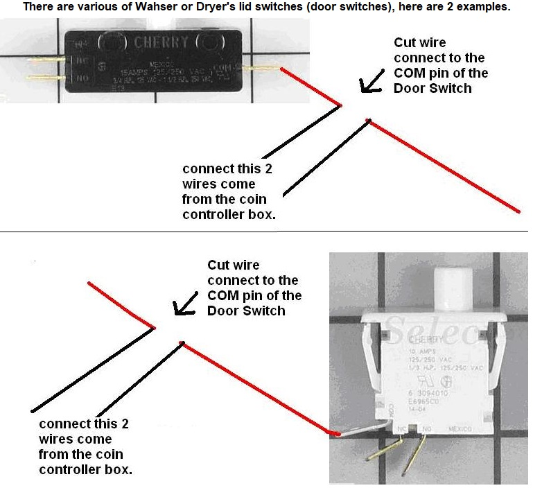 dryer door switch wiring diagram 32 wiring diagram Washer Dryer Combo Frigidaire Dryer Door Switch Part